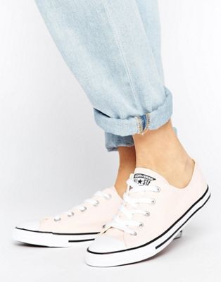 f06f39acd198 Converse Canvas Chuck Taylor All Star Dainty Trainers In Pink