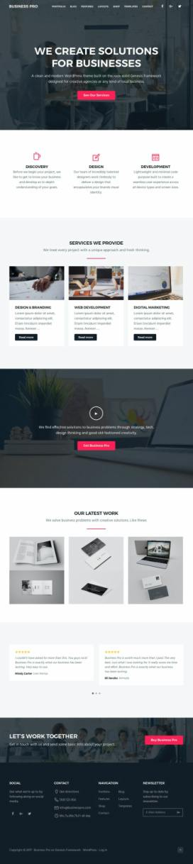 Business Pro StudioPress by SEO Themes : Genesis Business Theme http ...
