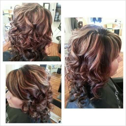 Pin By Christina Snyder On Hair Hair Highlights Hair Highlights And Lowlights Curly Hair Styles