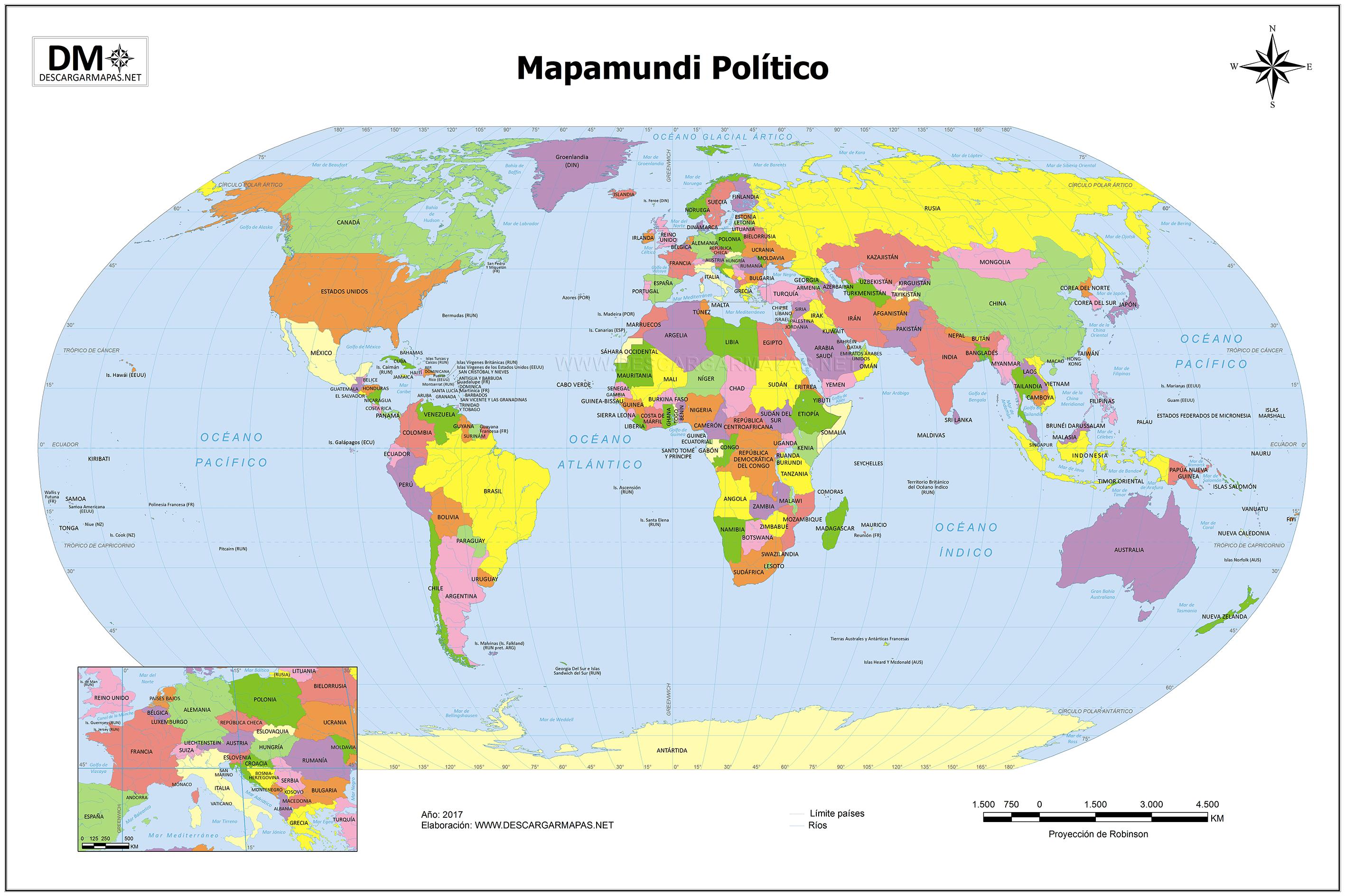 Resultado De Imagen De Mapa Mundi Mapamundi Politico