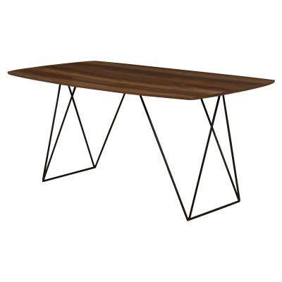 Peachy Diamond Sofa Star Rectangular Dining Table Walnut Machost Co Dining Chair Design Ideas Machostcouk