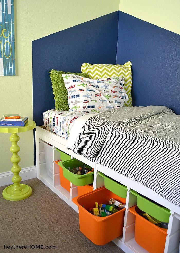 Diy Platform Bed With Storage Twin Storage Bed Diy Twin Bed