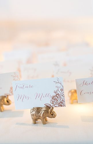 Charming Pink and Gold Bridal Shower - Inspired by This