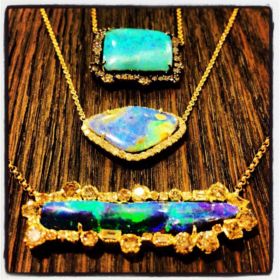 Kimberly McDonald Opal Pendants