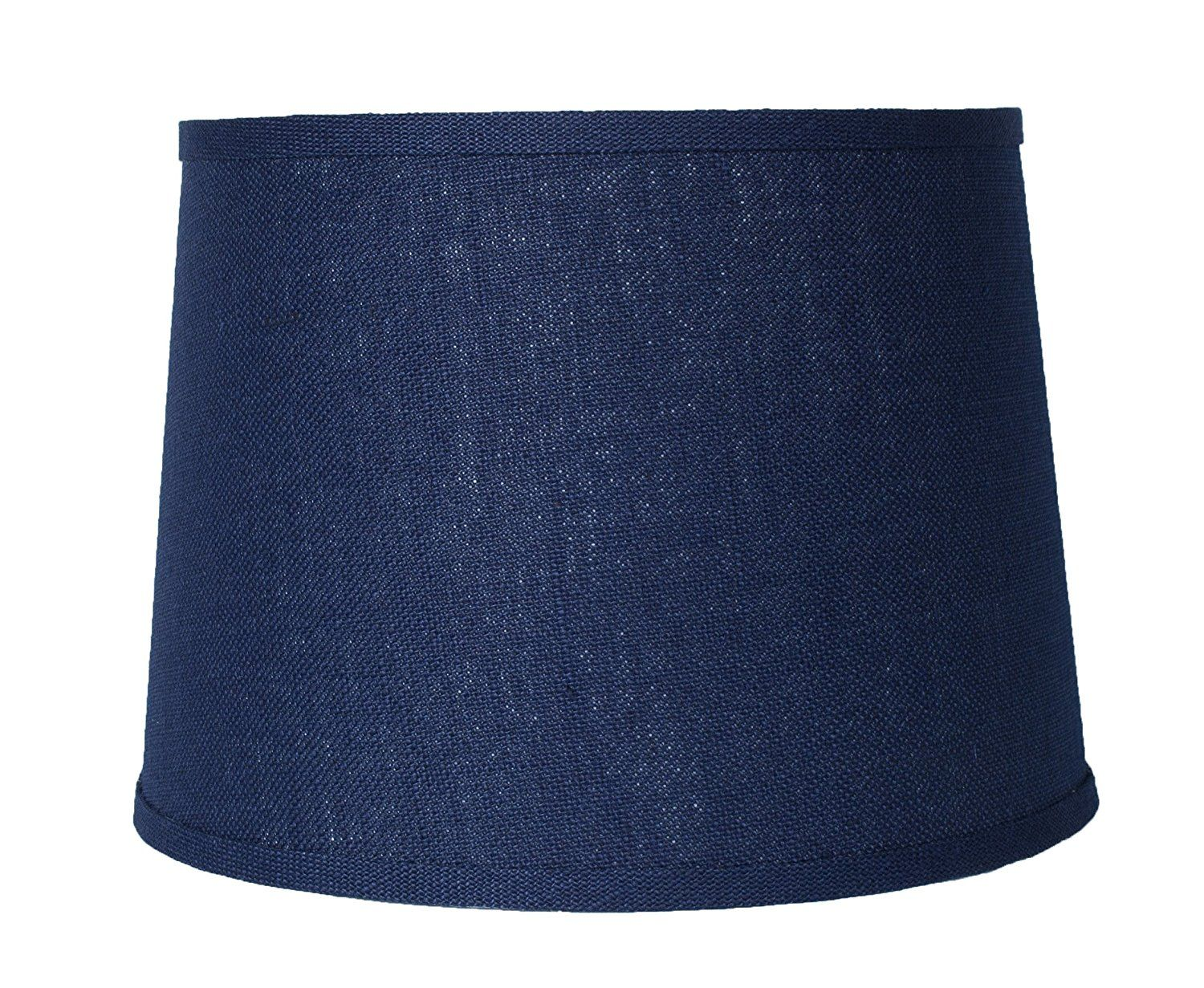 Urbanest blue burlap drum lampshade 10x12x85 spider fitter urbanest blue burlap drum lampshade spider fitter you can get additional details at the image link aloadofball Choice Image
