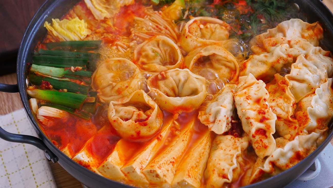 Korean Dumpling Hot Pot, Mandu Jeongol Recipe & Video - Seonkyoung Longest