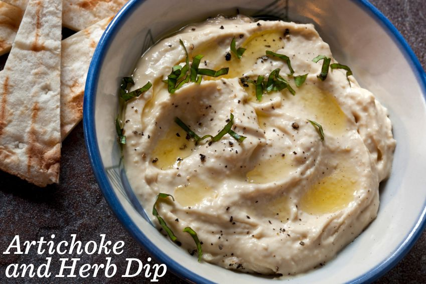 Artichoke and Herb Dip with doTERRA Lemon essential oil