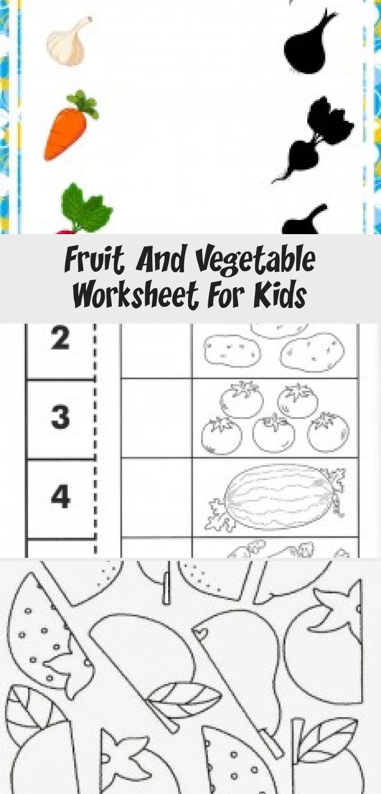 Fruit And Vegetable Worksheet For Kids Crafts And Worksheets For Preschool Toddler And Kindergarten Toysworksheet In 2020 Worksheets For Kids Diy Kids Toys Diy Toys