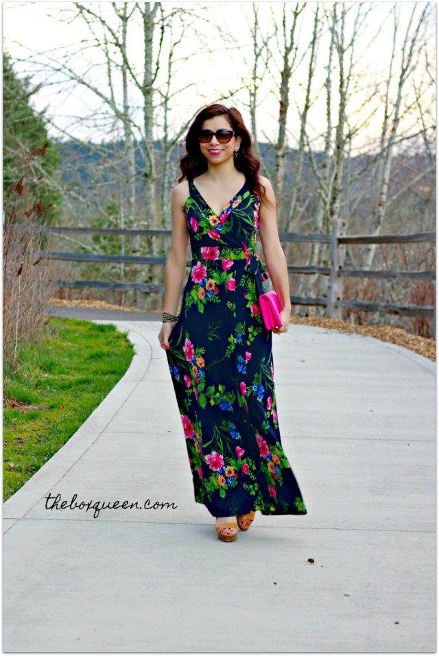 LE LIS Ranada FAux Wrap Knit Maxi Dress   Stitch Fix Reviews   Personal  Stylist   Stitch Fix Dress   Personal Shopper   Stitch Fix Outfit   Spring  Style ... bc4fb6d22d
