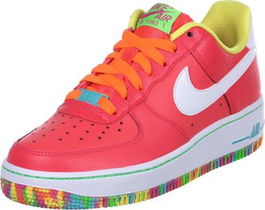 Nike Air Force 1 GS Scarpa fluorescente rosso giallo | Fucsia