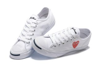 f0d538c7363 Jack Purcell Ltt Converse Comme des Garcons Play Red Heart Big Eyes White Low  Top Sneakers