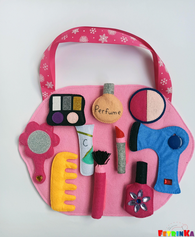 Felt makeup set felt cosmetics doll makeup pretend play