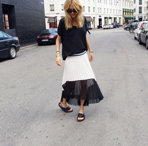 We'd love to try a semi-sheer skirt this way!