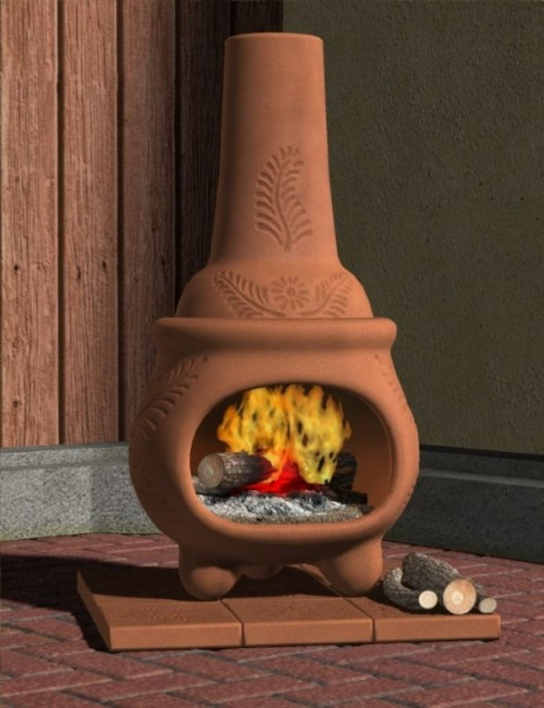Large Clay Chiminea Outdoor Fireplace   Popular Interior Paint Colors Check  More At Http:/