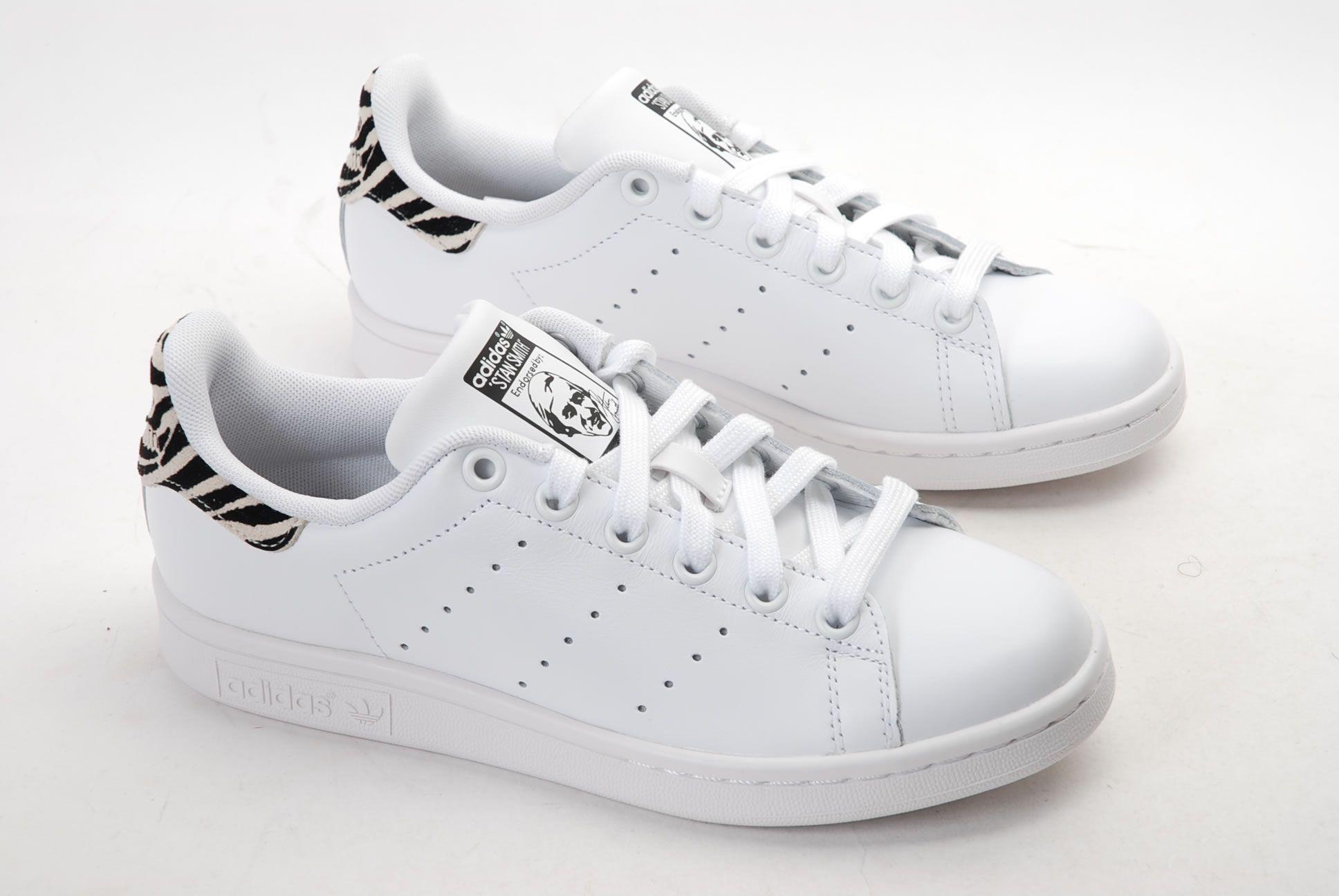 Adidas Stan Smith Blanc/Zebre   Adidas, Stan smith, Adidas stan
