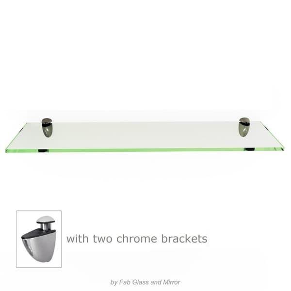Clear Rectangle Floating Glass Shelf 3/8\