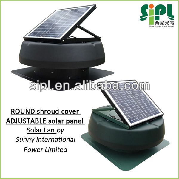 Home Ventilation Solar Powered Attic Roof Round Housing Brushless Motor Driven Axial Extracting Fan Buy Solar Ventilation Fan Ventilation Fan Roof Ventilator Natural Air Conditioner Solar Power Solar Power Charger