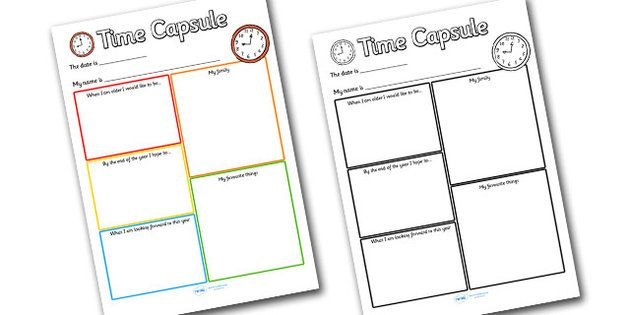 Time Capsule Transition Writing Frame All About Me Pinterest