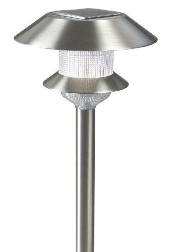 Alpan 15521 Carrington Solar Garden Light 1 Pack Stainless Steel By Alpan 21 61 From The Manufacturer 1 Pack Stainless Steel Solar Garden Li