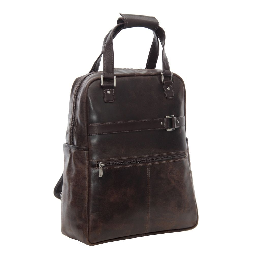 Piel Vintage Laptop Convertible Travel Tote/ Backpack