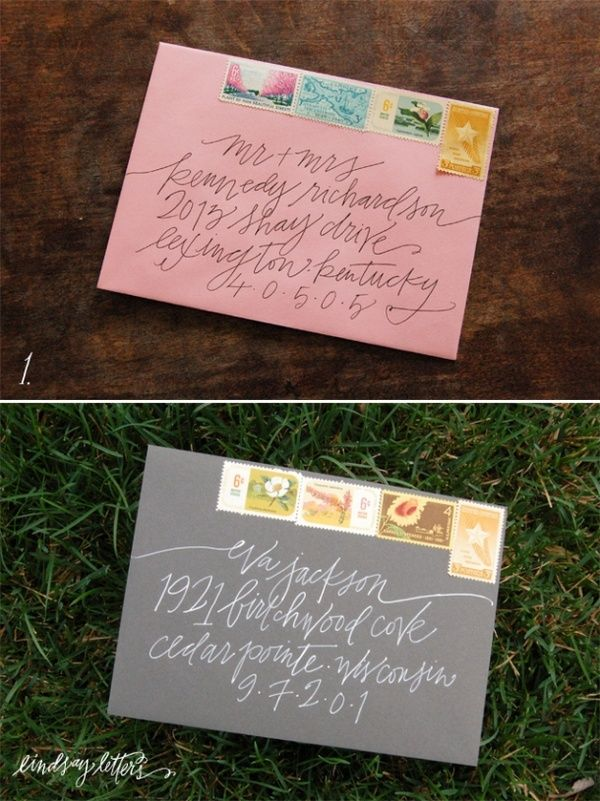 Envelope Addressing Lindsay Letters  Monogram And Calligraphy