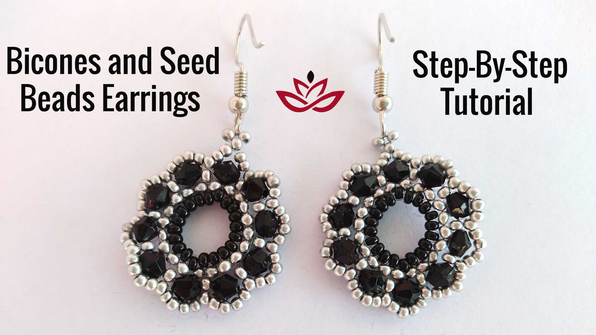 Bicones And Seed Beads Earrings Tutorial How To Make Diy Beaded