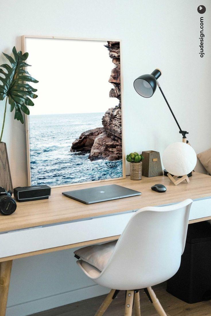 Coastal photography ocean poster aqua wall art