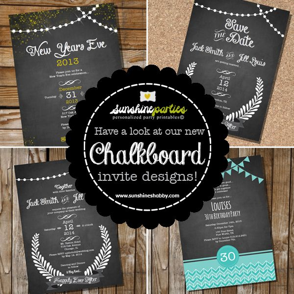 Awesome new chalkboard invite designs from sunshineparties on etsy awesome new chalkboard invite designs from sunshineparties on etsystant download edit solutioingenieria Choice Image