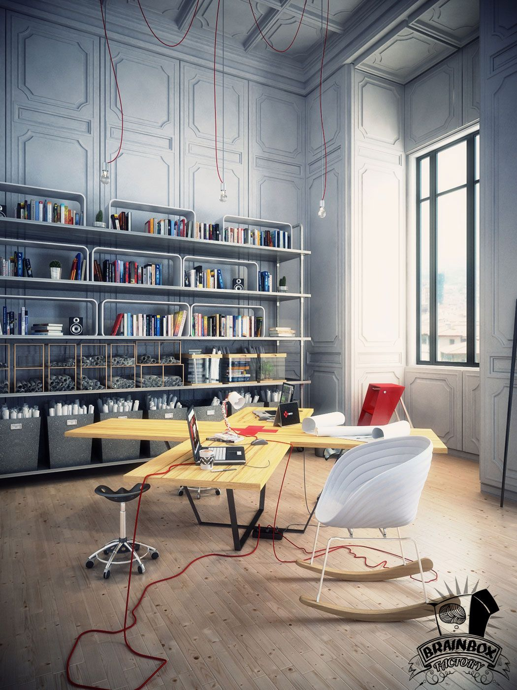 Modern creative office spaces google search dise o - Diseno de interiores trabajo ...