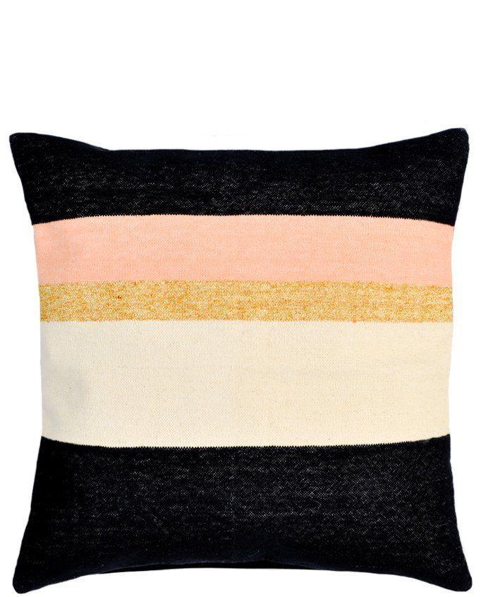 Julius Pillow, Black / Peach / Gold / Cream - LEIF Shop ...