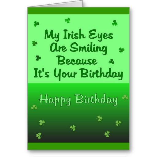 Irish Eyes Birthday Card Zazzle Com Irish Birthday Wishes Irish Birthday Irish Eyes