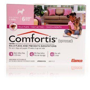 Comfortis Pink For Dogs 5 10 Lbs 8211 6 Month Dogs Fleas Flea Meds