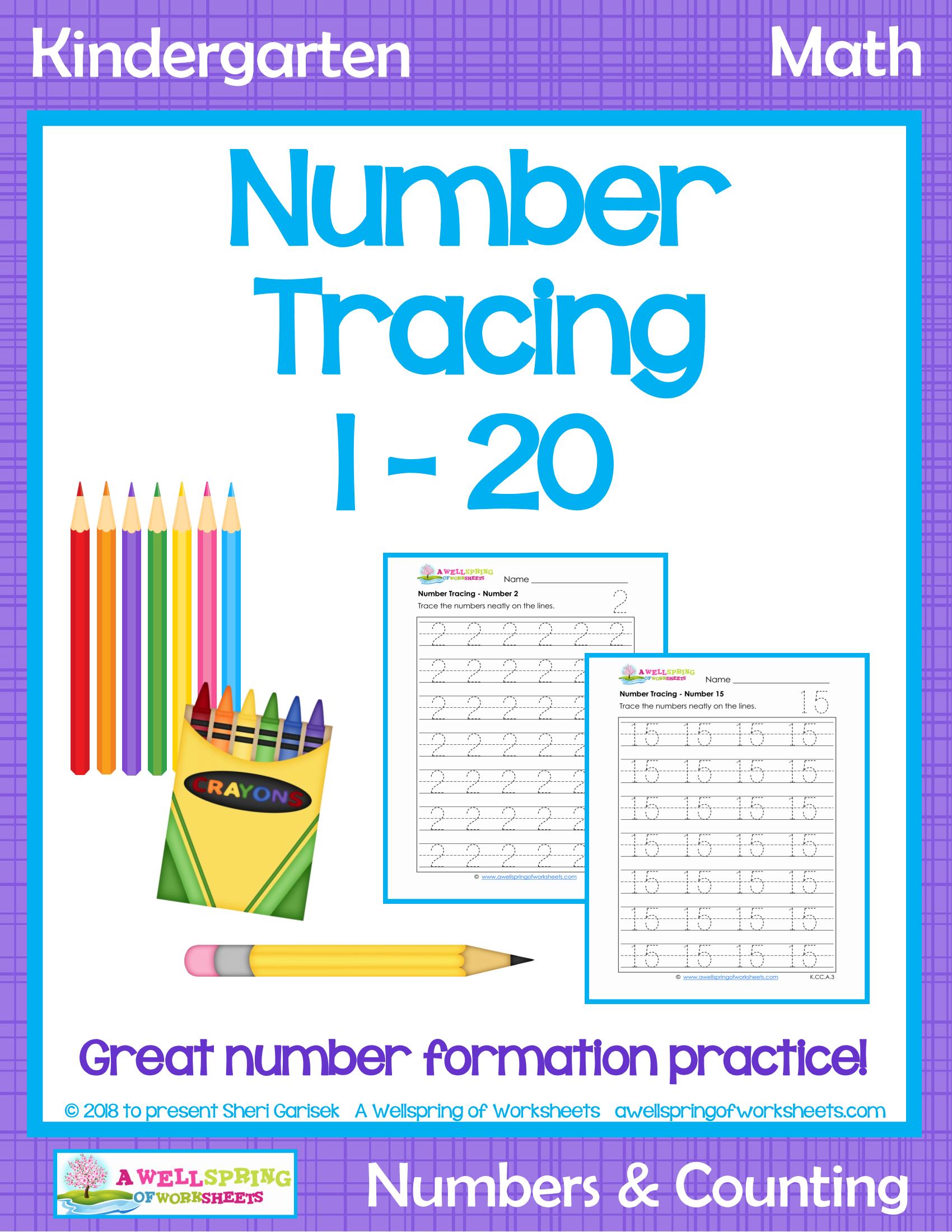 0 20 Number Formation Worksheet