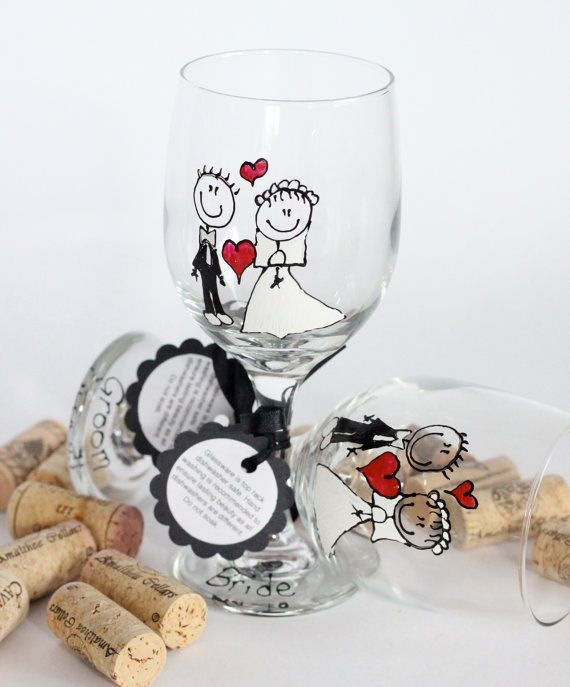 christmas painted wine glasses - Google Search