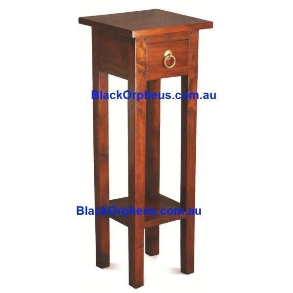 Small Timber Table, W30xD30xH82cm, Lamp Table, Corner Table, Plant Stand.