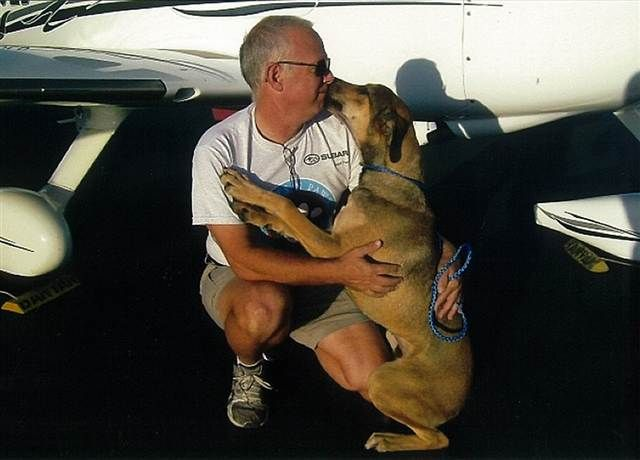 Woof! Meow! Oink! Pilot rescues 1,000th animal (Courtesy Jeff Bennett)