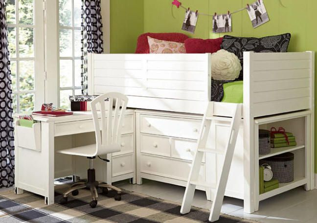 kids storage bed white right in collections dresser custom with grande beds loft ladder for tw loftdeskchestshelf drawers bookshelves furniture junior one desk