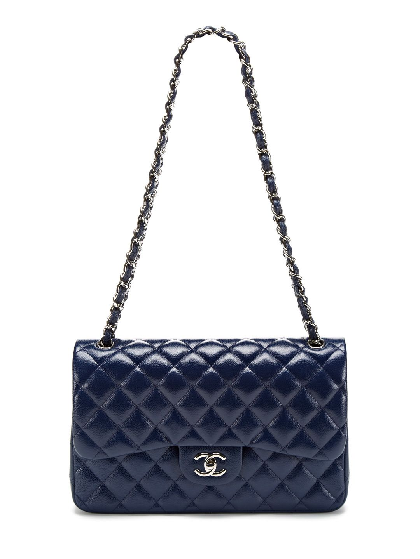 cc55d77c6c01 Navy Caviar Jumbo Classic 2.55 Double Flap Bag by Chanel at Gilt ...