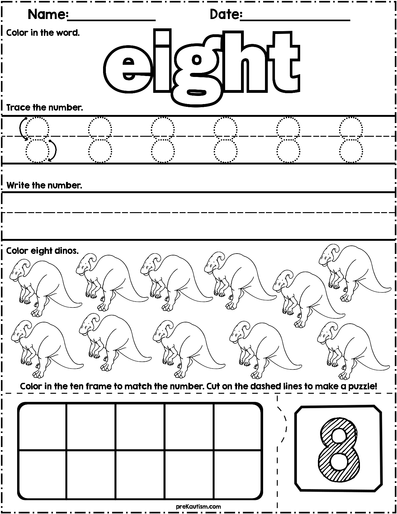 Dinosaur Count Write Math Worksheets Math Worksheets Numbers Preschool Preschool Worksheets [ 1650 x 1275 Pixel ]