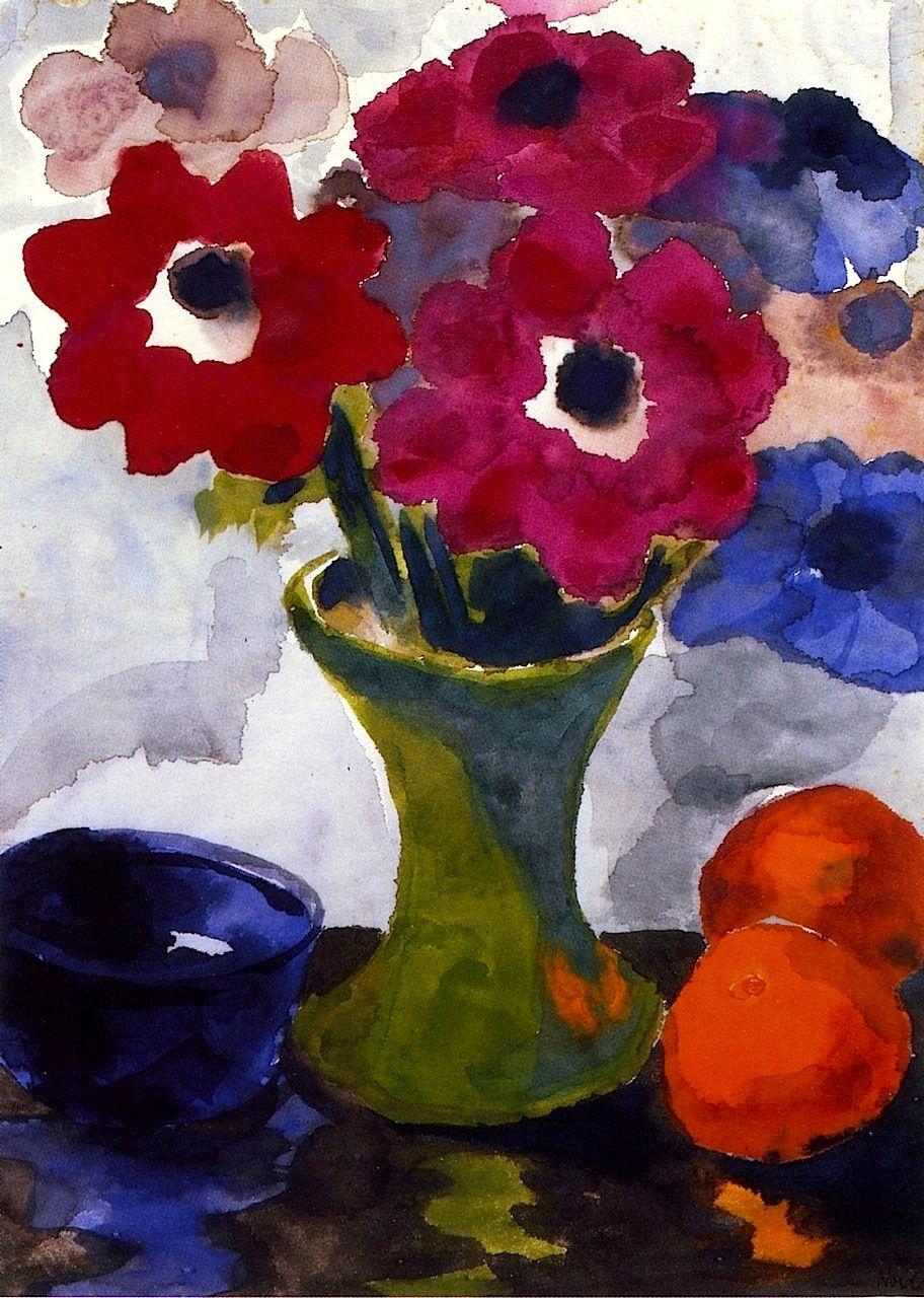 Floral Still Life Emile Nolde - circa 1925-1930