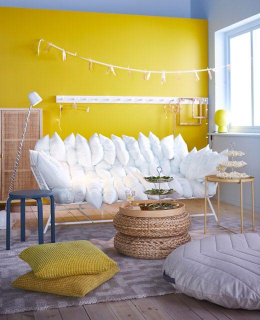 keine angst vor knalligen farben nat rliche materialien und wei e m bel oder deko bringen ruhe. Black Bedroom Furniture Sets. Home Design Ideas