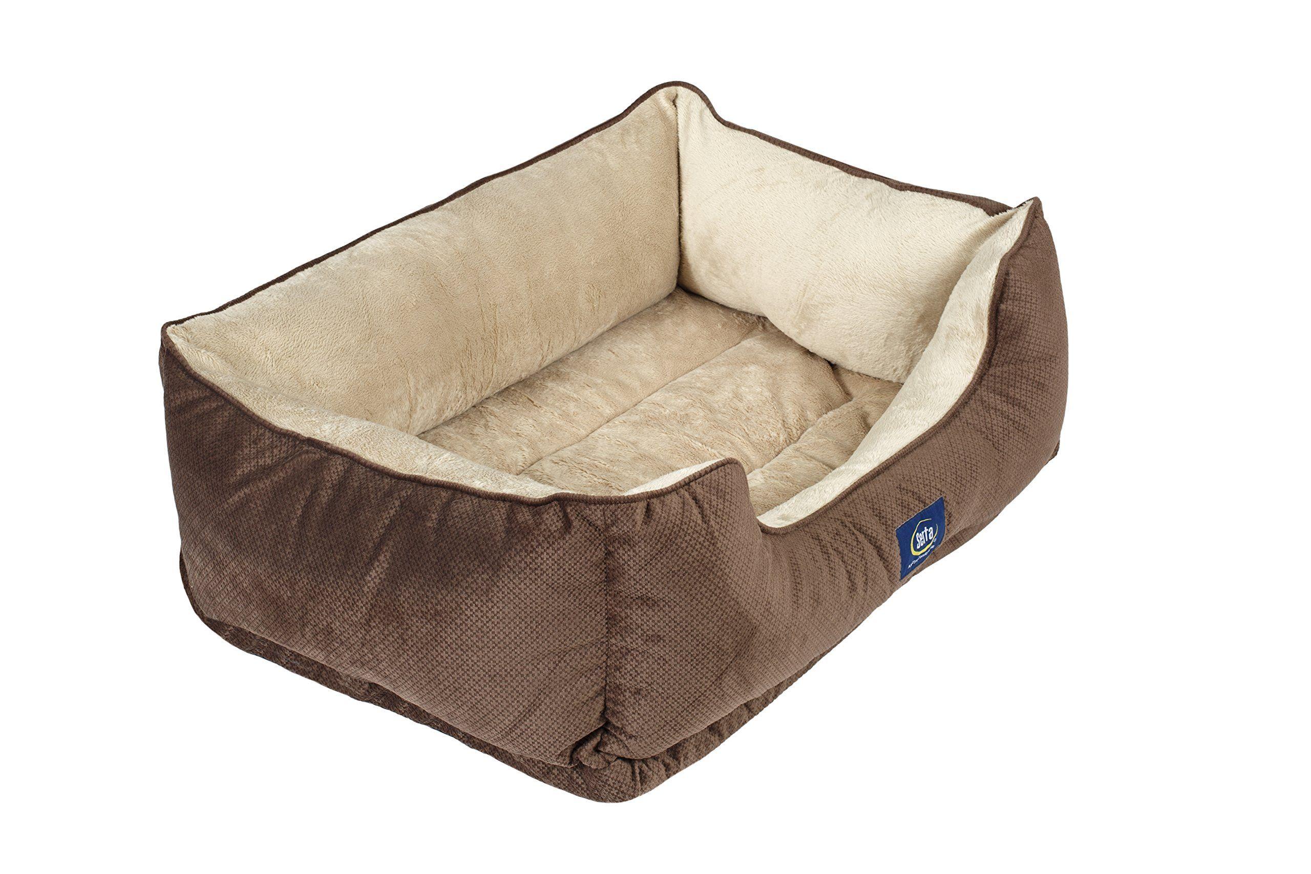 Serta Ortho Cuddler Pet Bed Mocha ** Click image for more