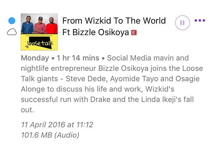 @loosetalkgiants Podcast Feat Me is currently no.1 on the Nigerian iTunes Podcast  charts .  by bizzleo1