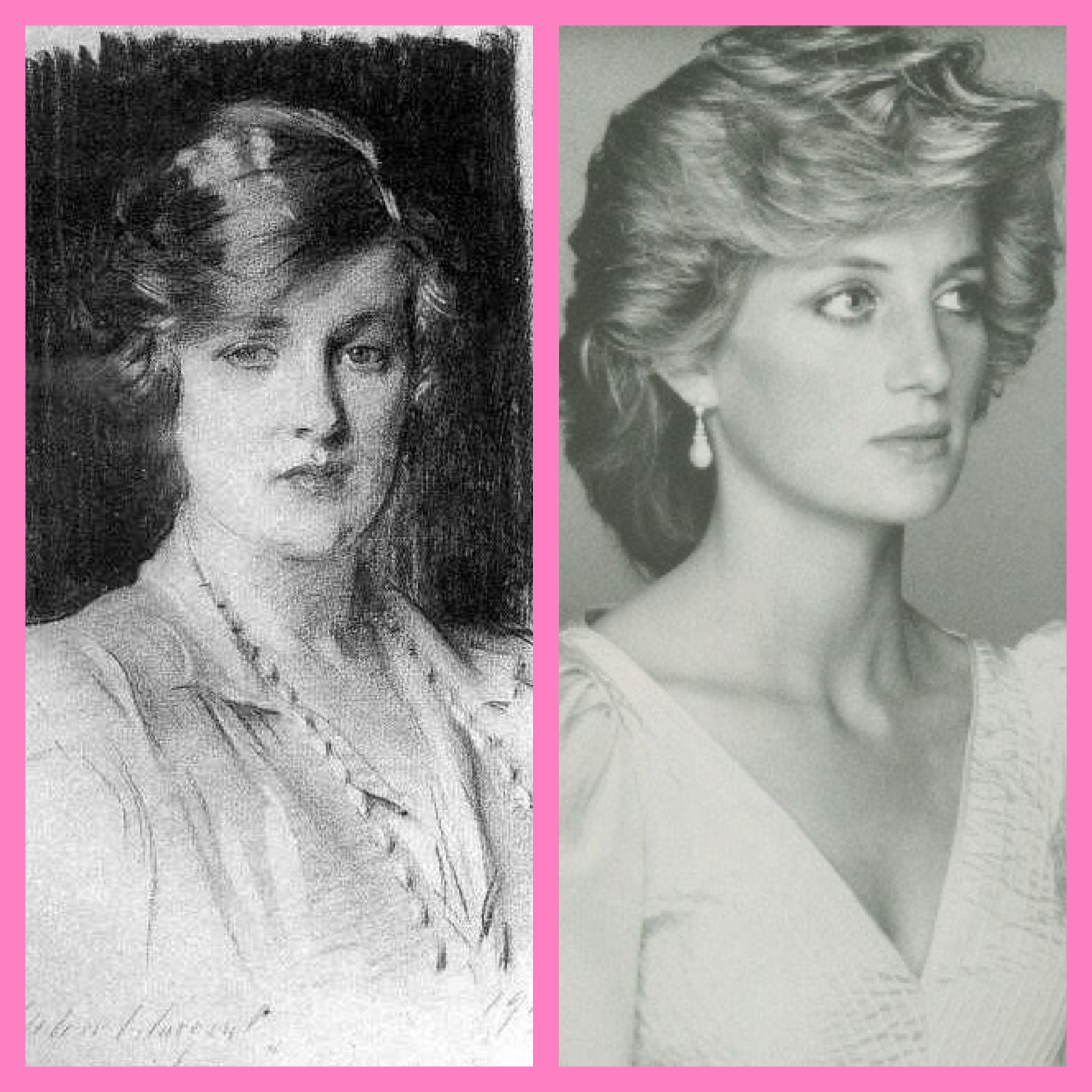 Grandmother and Granddaughter Princess Di beside her