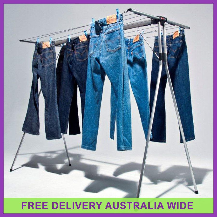 Mrs Peggs Deluxe 10 Line Clothesline Outdoor Indoor Portable Airer Clothes  Line