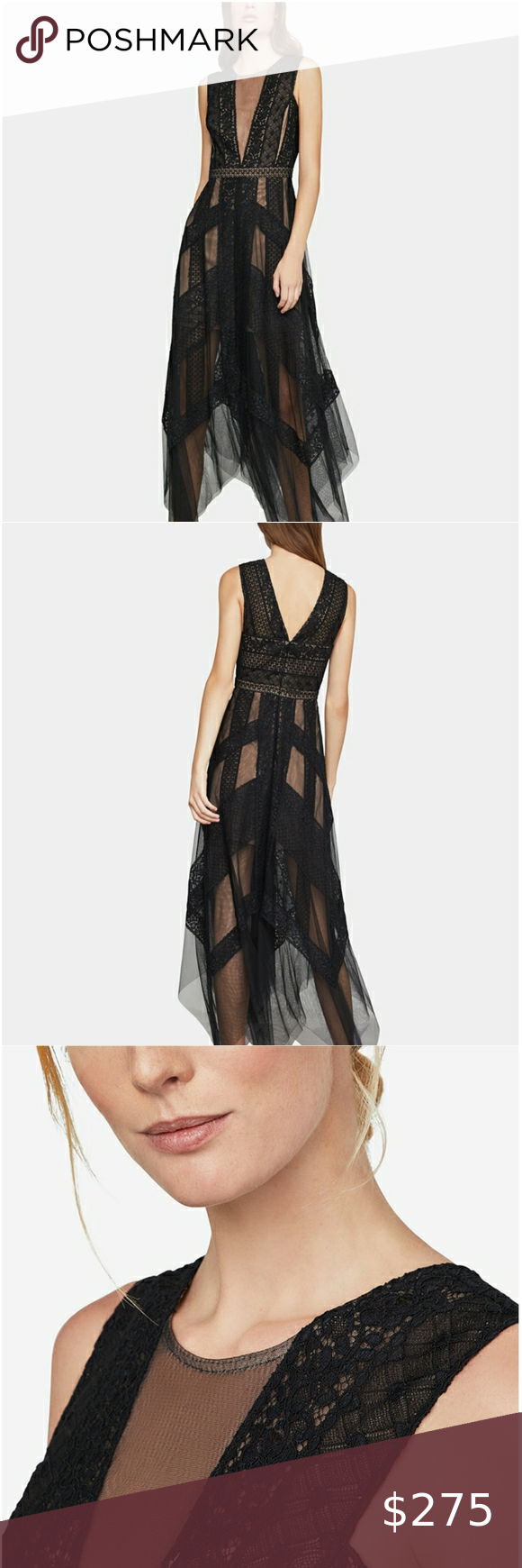16++ Bcbgmaxazria asymmetrical striped lace dress inspirations