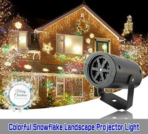 Wiswis Rotating Rgb Projection Led Lights Landscape Snowflake Lawn Lights Multicolor With 3pcs Switchable Holiday Projector Led Landscape Lighting Xmas Lights