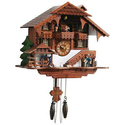 Kel Large Cuckoo Clock With Multiple Moving Facets Cool Giftset