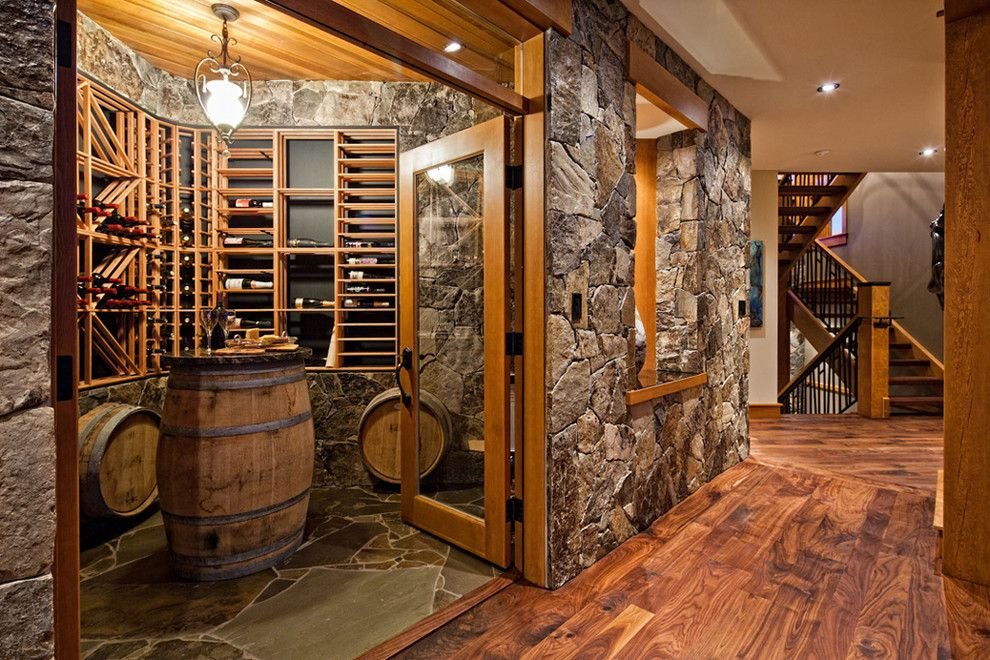 Dazzling Wine Barrel Furniture Mode Other Metro Contemporary Wine Cellar  Innovative Designs With Built In Shelves Flagstone Glass Doors Hall Landing  Pendant ...