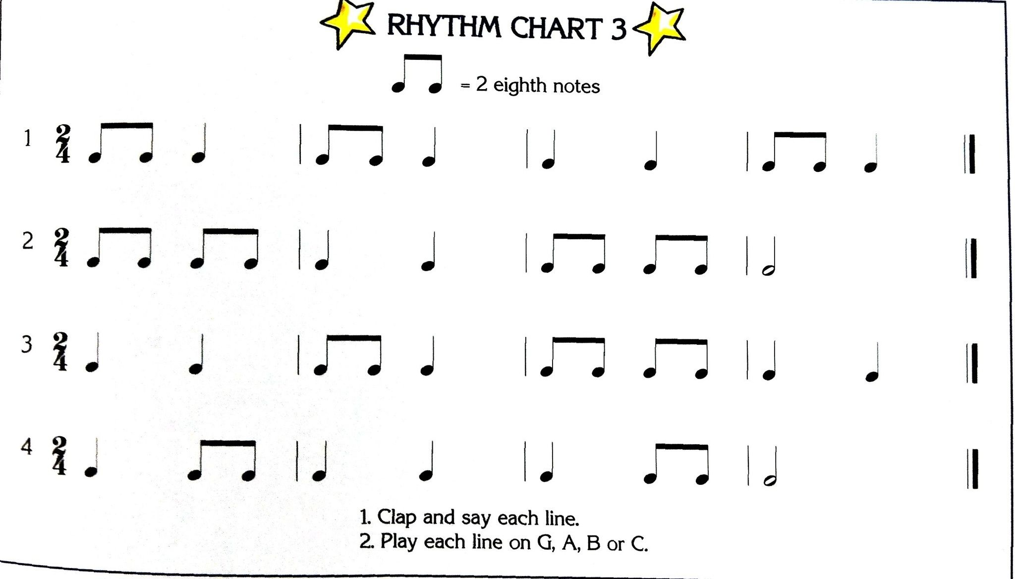 simple dumple rhythms in 2 4 time signature rhythm sayings notes chart. Black Bedroom Furniture Sets. Home Design Ideas